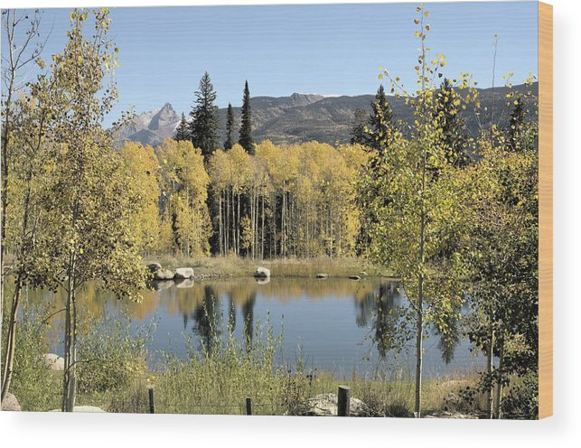 Colorado Pond Wood Print featuring the photograph Reflection Pond by Jim Norwood
