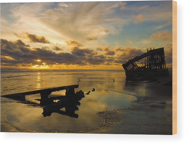 Landscape Wood Print featuring the photograph Reflections Of Time by Jennifer Owen