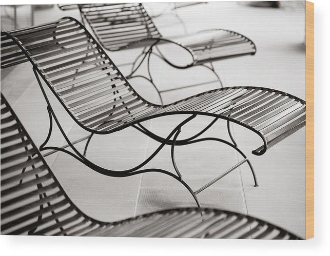 Chair Wood Print featuring the photograph Relaxation by Marilyn Hunt