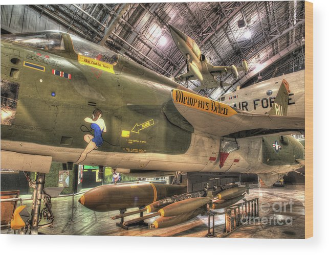 Dayton Wood Print featuring the photograph Republic F-105 Thunderchief by Greg Hager