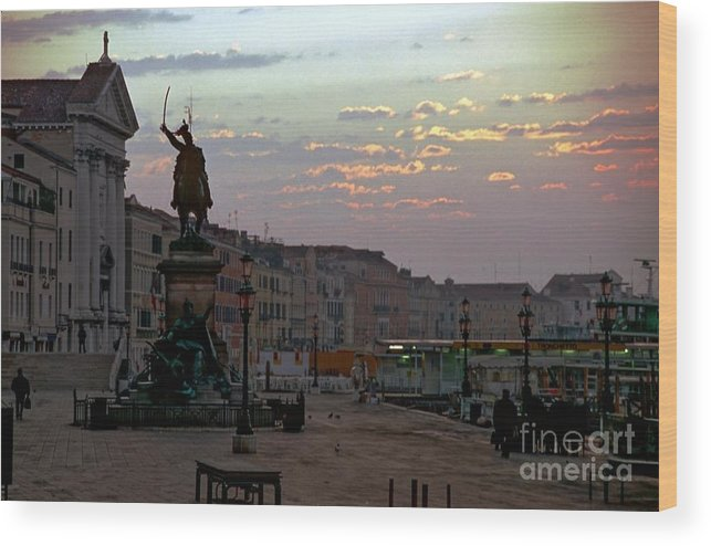 Venice Wood Print featuring the photograph Riva Schiavoni In Venice In The Morning by Michael Henderson