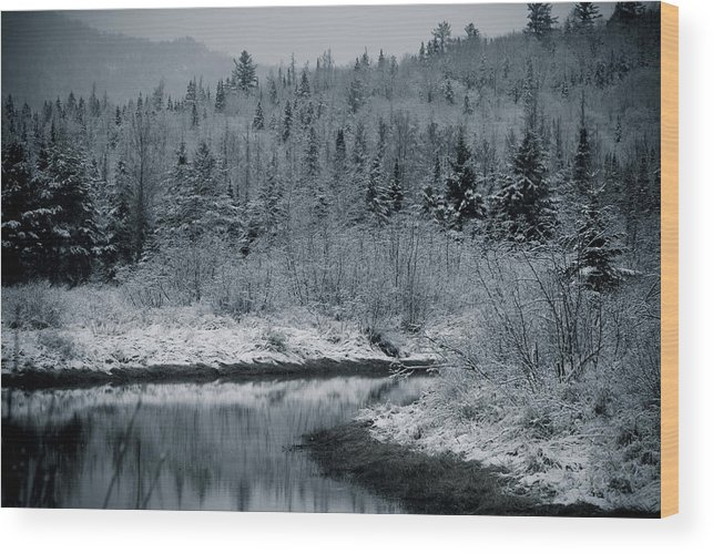 Scenic Wood Print featuring the photograph River Bend Winter by Todd Bissonette
