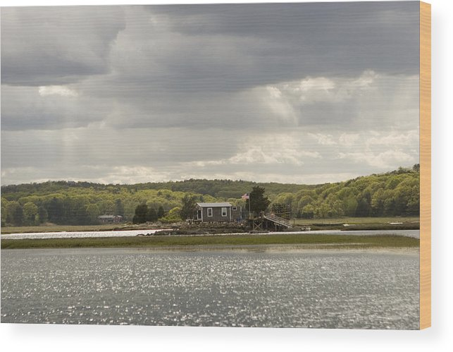 Jack Stock Wood Print featuring the photograph River Home by Jack Foley
