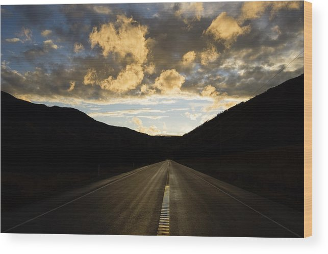 Road Wood Print featuring the photograph Road To Nowhere by Peter Olsen