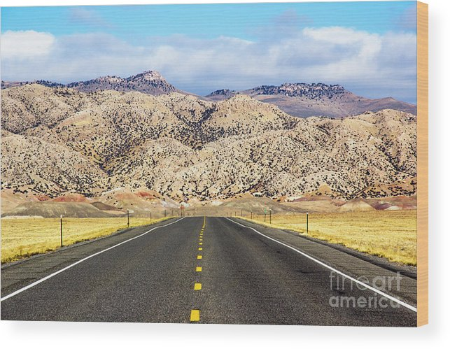 Road Wood Print featuring the photograph Road To Owl Creek Mountains Wyoming by Amy Sorvillo