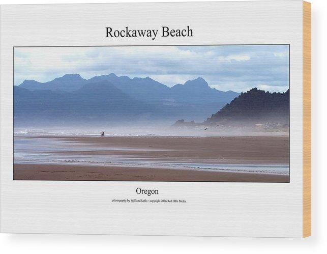 Oregon Coast Photographs Wood Print featuring the photograph Rockaway Beach by William Jones