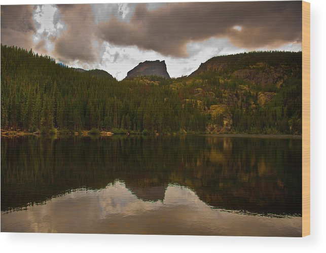 Nymph Lake Wood Print featuring the photograph Rocky Mountain National Park by Patrick Flynn