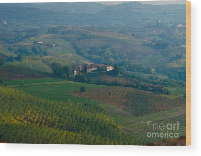 Italy Wood Print featuring the photograph Rolling Hills Of The Piemonte Region by Carl Jackson