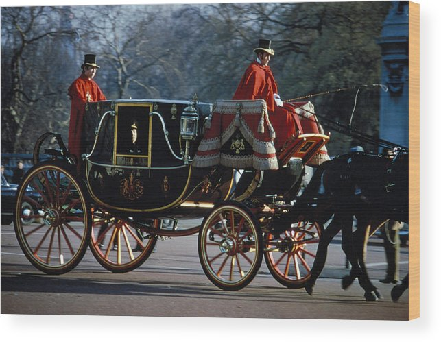 Coach Wood Print featuring the photograph Royal Carriage In London by Carl Purcell