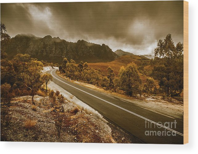Tasmania Wood Print featuring the photograph Rugged Rural Retreats by Jorgo Photography - Wall Art Gallery