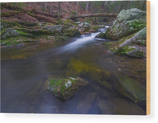 Mist Wood Print featuring the photograph Runoff by Lechmoore Simms