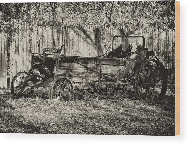 Farm Wood Print featuring the photograph Rust Bucket by Bill Cannon