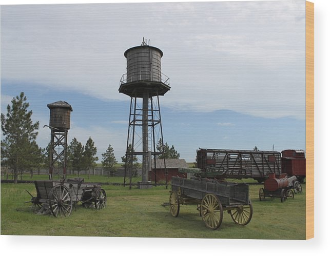 Western Wood Print featuring the photograph Rustic Scene by Rob Hoffman