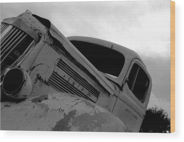 Old Wood Print featuring the photograph Rusty Car by Johnny Aguirre