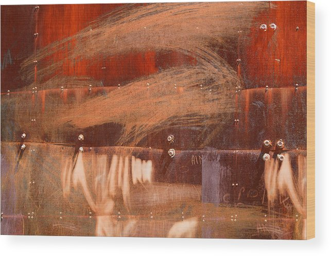 Bolt Wood Print featuring the photograph Rusty Container by Martine Affre Eisenlohr