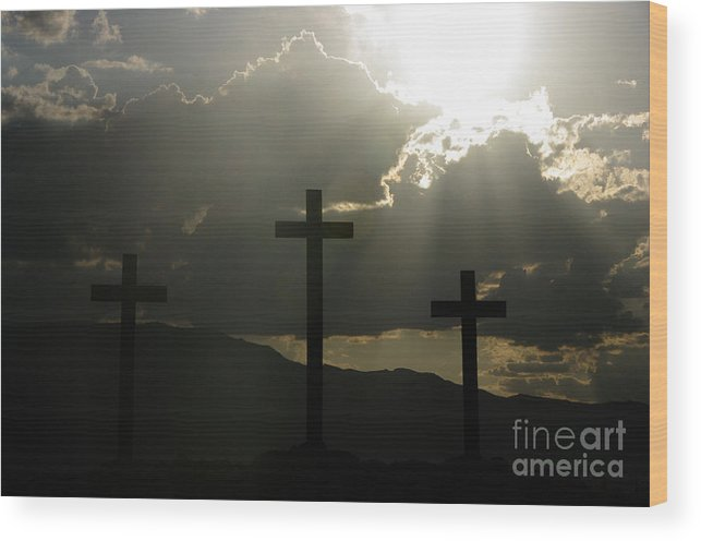 Crosses Wood Print featuring the photograph Salvation by Kenneth Hess