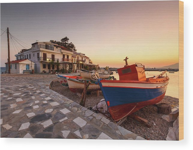 Europe Wood Print featuring the photograph samos 'X by Milan Gonda