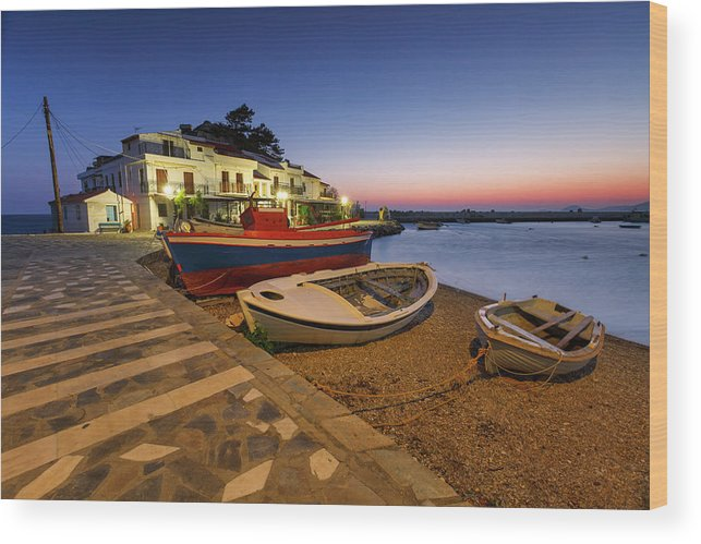 Europe Wood Print featuring the photograph samos 'XIII by Milan Gonda