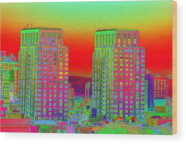 San Diego Wood Print featuring the photograph San Diego Scenic by Richard Henne