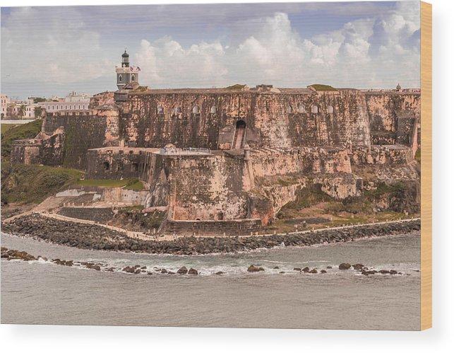 San Juan Fort Wood Print featuring the photograph San Juan Puerto Rico Fort by Samuel Gibbs