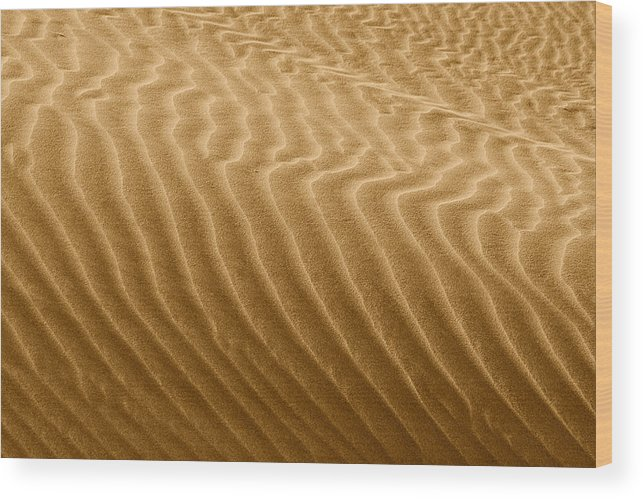 Sand Wood Print featuring the photograph Sand Dune Mojave Desert California by Christine Till