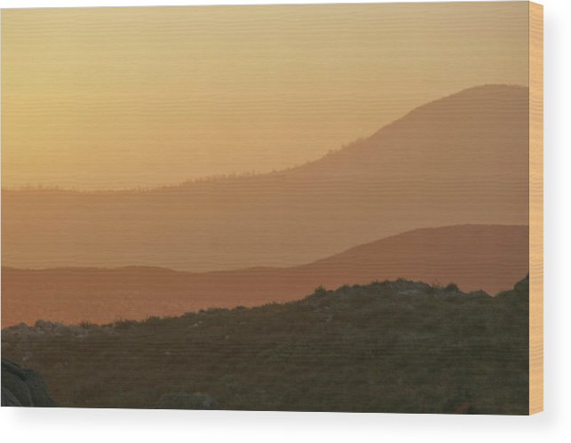 Sandstorm Wood Print featuring the photograph Sandstorm During Sunset On Old Highway Route 80 by Christine Till