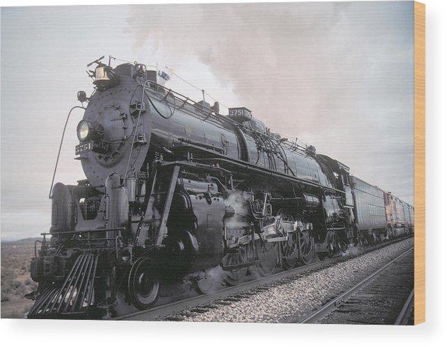 Steam Wood Print featuring the photograph Santa Fe No 3751 North Edwards California by Brian Lockett