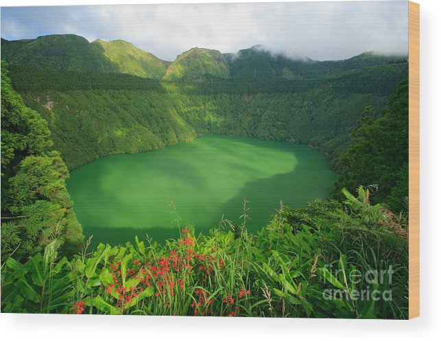 Azores Wood Print featuring the photograph Santiago Lake by Gaspar Avila