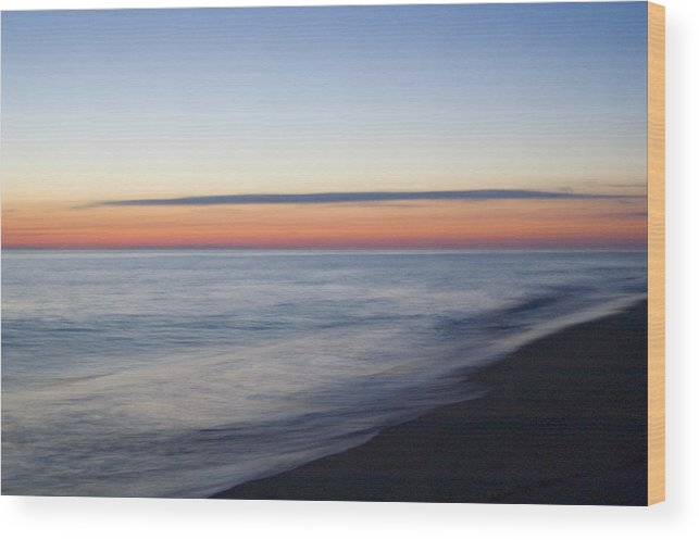 Nantucket Wood Print featuring the photograph Sciasconset Morning Nantucket by Henry Krauzyk