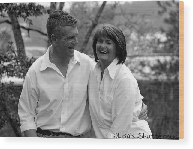 Wood Print featuring the photograph Scott And Sandi 3 by Lisa Johnston