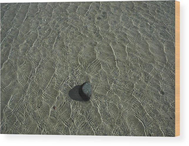 Graphic Wood Print featuring the photograph Sea And Stone by David Halperin