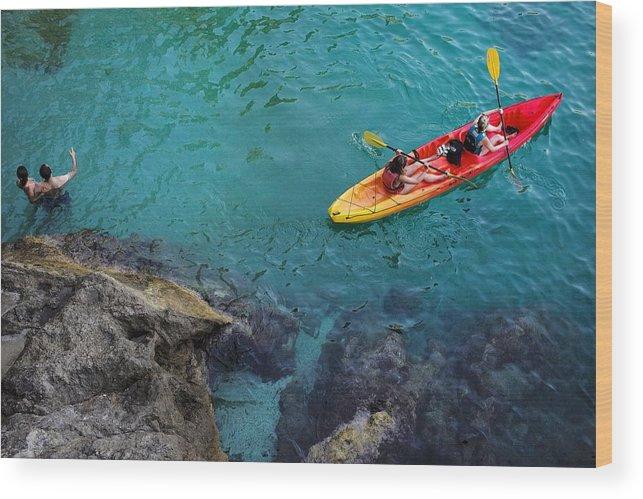 Dubrovnik Wood Print featuring the photograph Sea Kayaking by Piotr Kuzniar