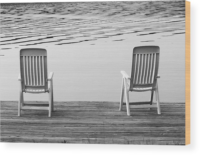Two Wood Print featuring the photograph Seating For Two by Brian Pflanz