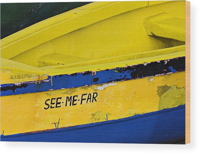 Boat Wood Print featuring the photograph See Me Far-st Lucia by Chester Williams