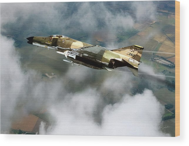 Aviation Wood Print featuring the digital art Seek Attack Destroy 262 by Peter Chilelli