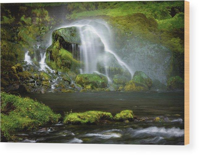 Selja Land Foss Wood Print featuring the photograph Selja Land Foss by Julayne Luu