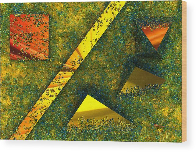 Background Wood Print featuring the digital art Setissimo 1 by Max Steinwald