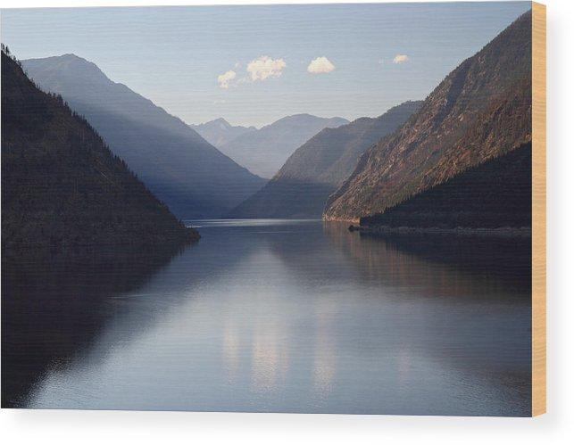 Seton Wood Print featuring the photograph Seton Lake Reflection by Pierre Leclerc Photography