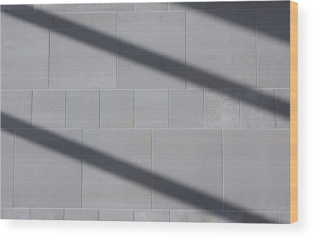 Airport Wood Print featuring the photograph Shadow Bars by Hans English