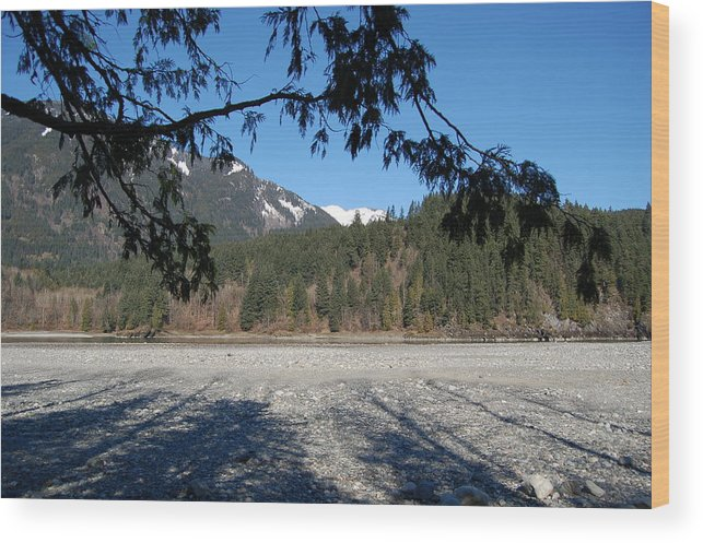 River Wood Print featuring the photograph Shadows On The Coquihalla River by J D Banks