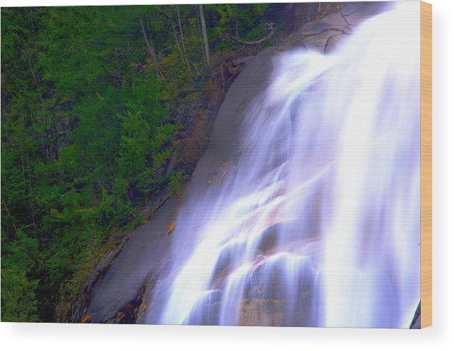 Waterfall Wood Print featuring the photograph Shannon Falls by Paul Kloschinsky