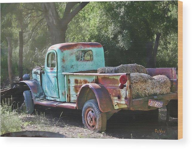 Old Cars Wood Print featuring the digital art Sheepherders Truck by Doug Vance