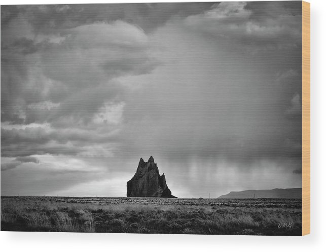 Black Wood Print featuring the photograph Ship Rock II by Dave Gordon