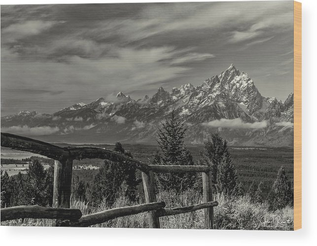 Grand Teton National Park Wood Print featuring the photograph Signal Mtn Grand Teton by Clicking With Nature