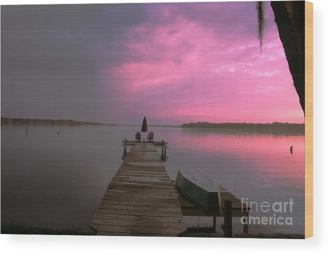 Dock Wood Print featuring the photograph Sittin On The Dock Of The Bay by David Carter