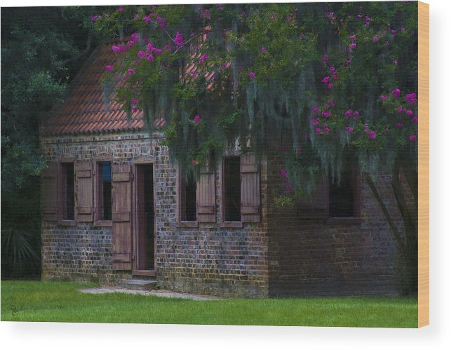 Old South Wood Print featuring the photograph Slave Quarters by Ron Jones