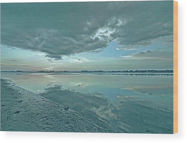 Blue Sky Wood Print featuring the photograph Smooth Blues by HH Photography of Florida