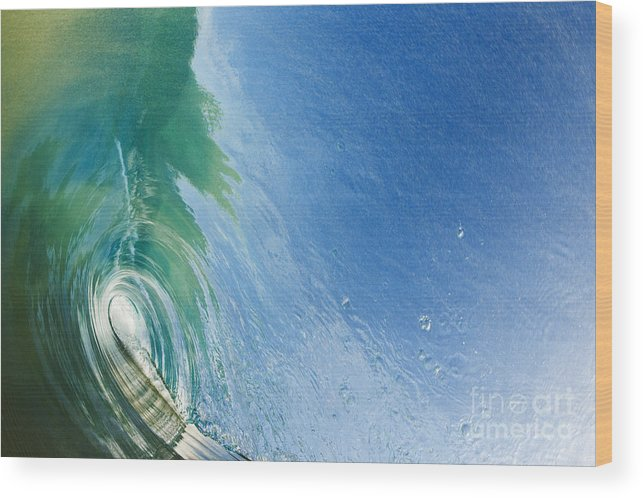 Amazing Wood Print featuring the photograph Smooth Wave Tube by MakenaStockMedia - Printscapes
