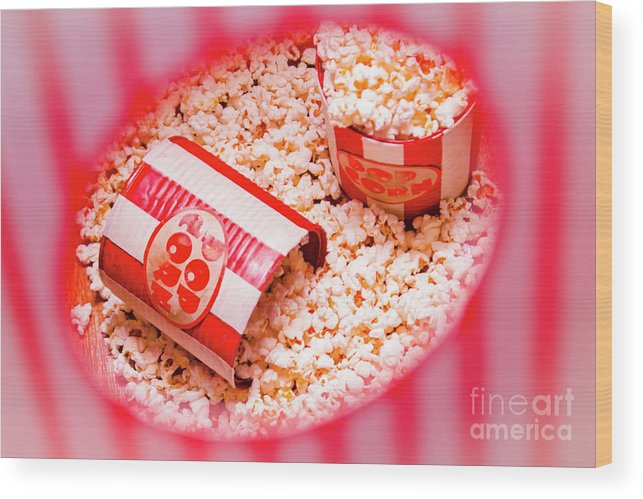 Entertainment Wood Print featuring the photograph Snack Bar Pop Corn by Jorgo Photography - Wall Art Gallery