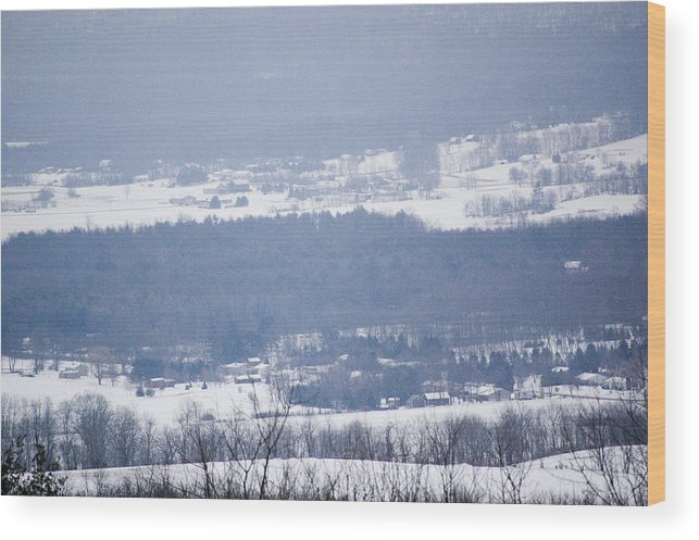 Valley Wood Print featuring the photograph Snow In The Valley by Richard Botts